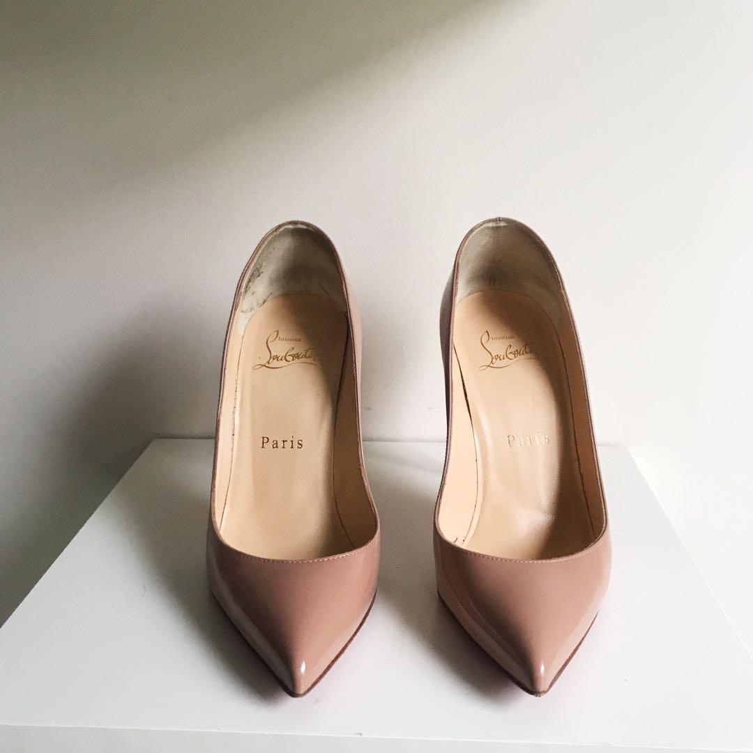$875 louboutin nude pigalle follies pumps size 35 / 5