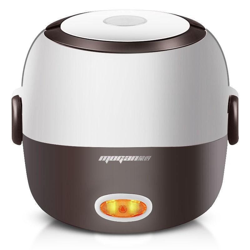迷你方便煮健康飯 Mogan電飯煲 雙層保溫飯盒 加熱 不銹鋼大容量電熱飯盒