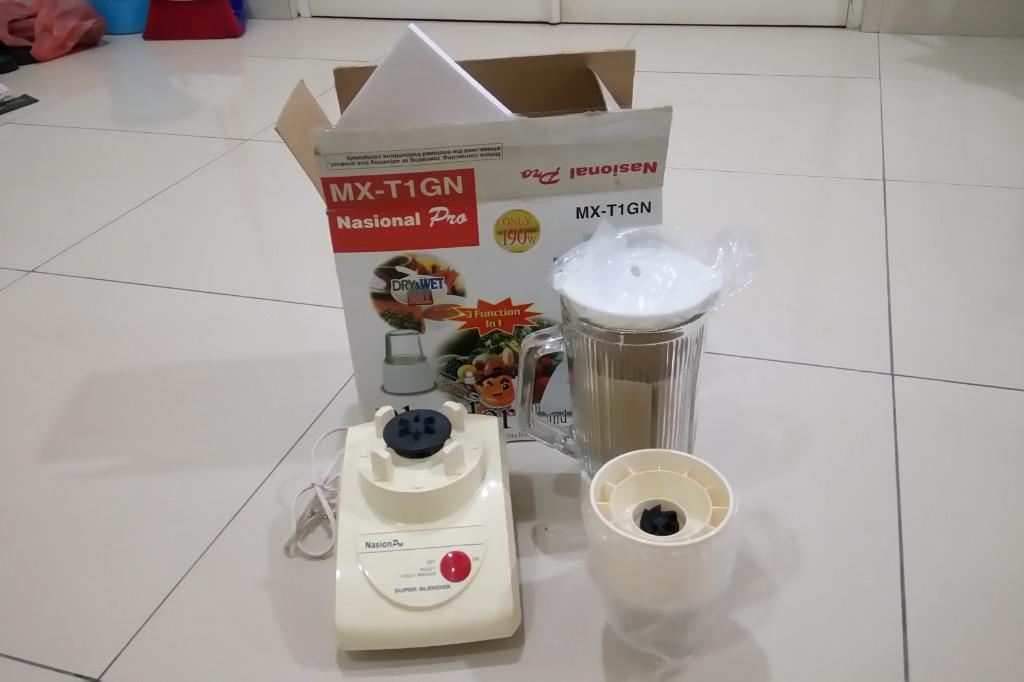 Blender Nasional Pro Type MX-T1GN, 3 In One Function.