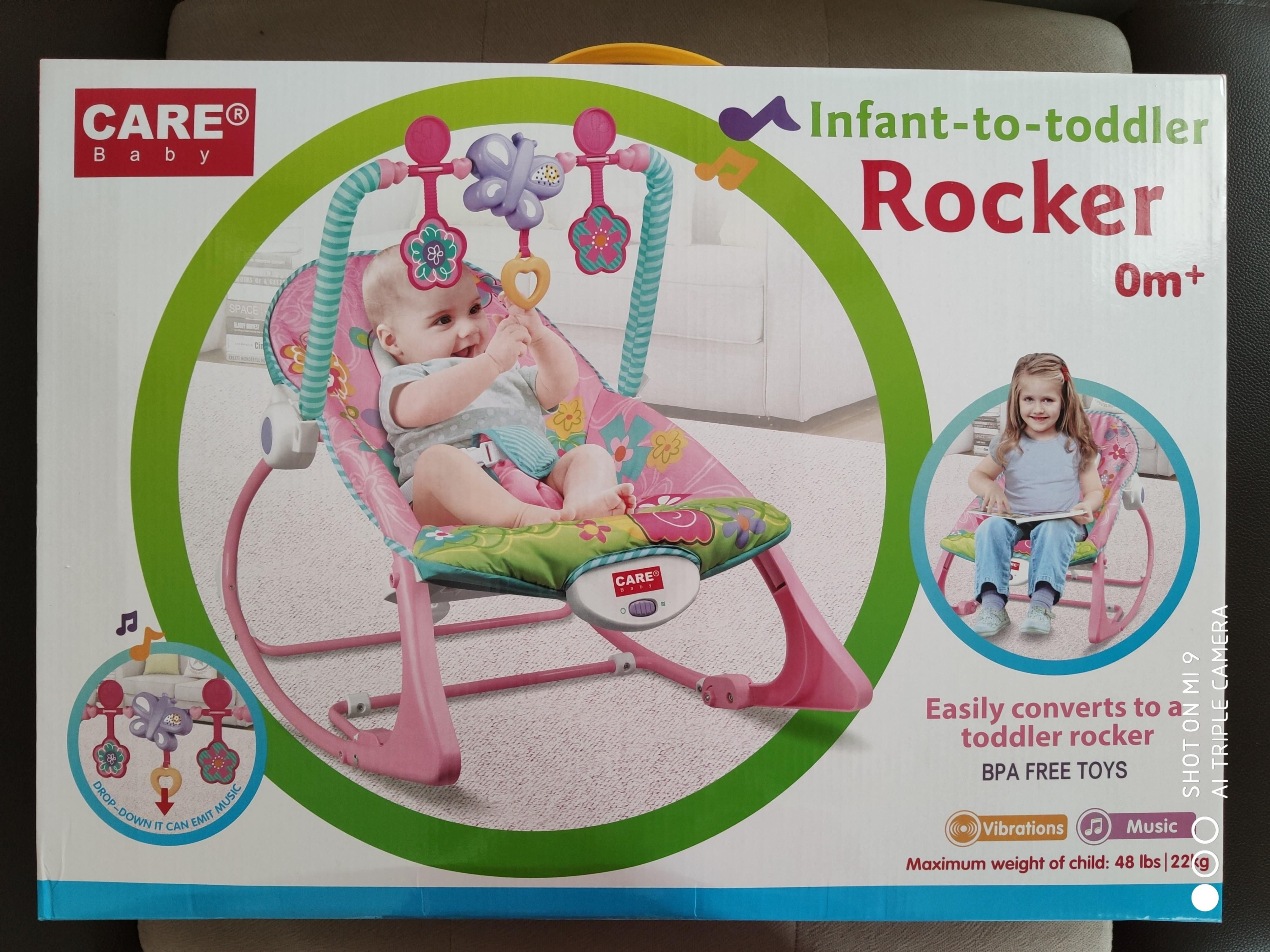 CARE BABY BOUNCER  PINK INFANT TO TODDLER ROCKER