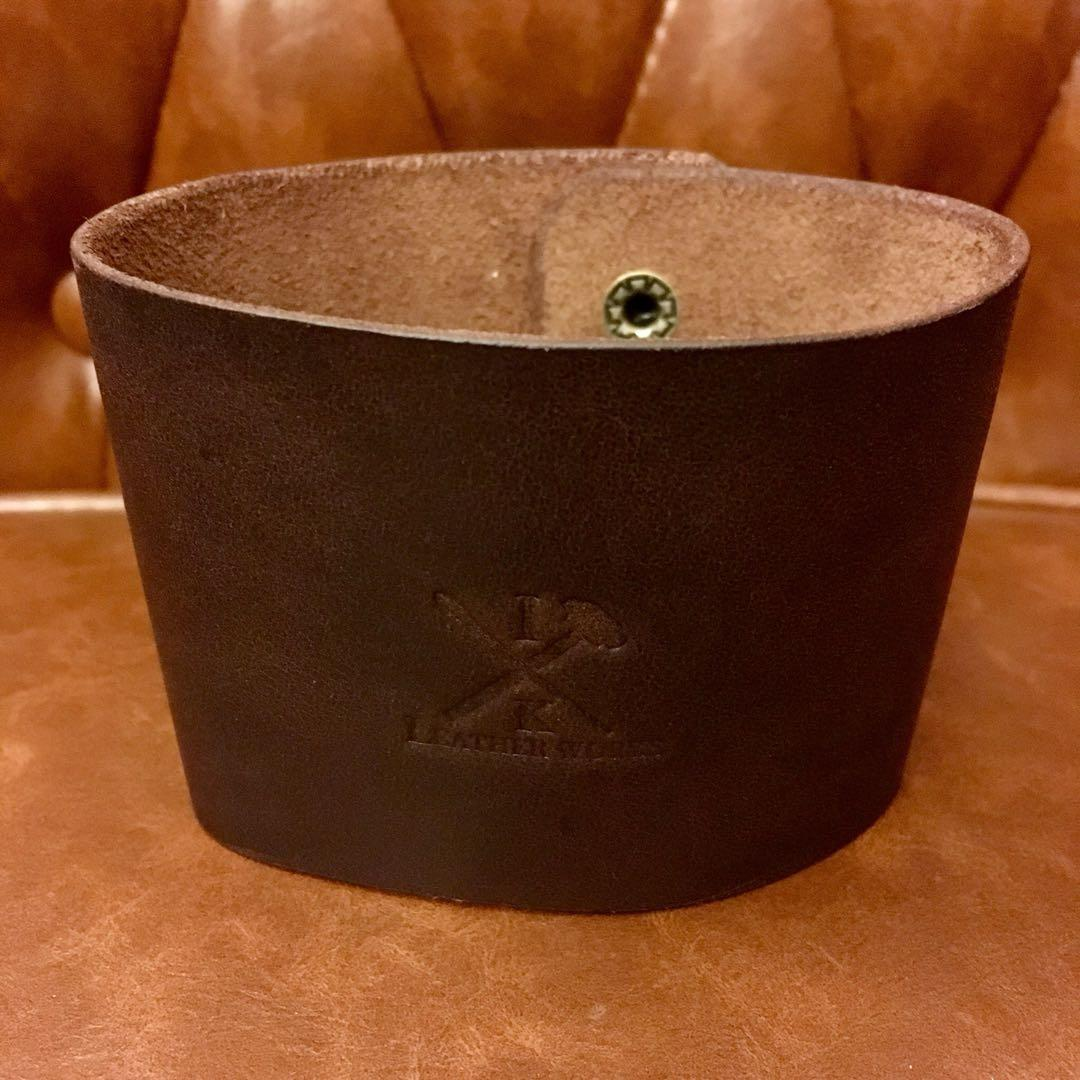 Coffee Cup Holder Leather Authentic Handmade Sleeve Design Craft Handmade Craft On Carousell