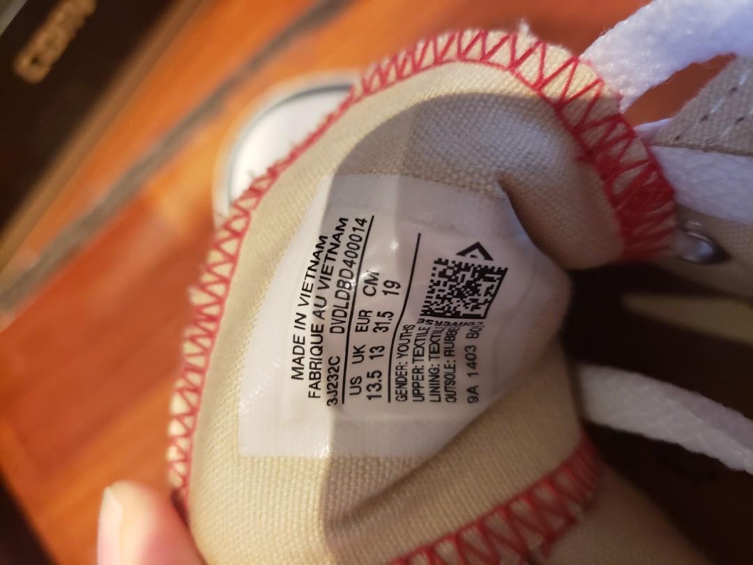 九成新小童converse高桶鞋