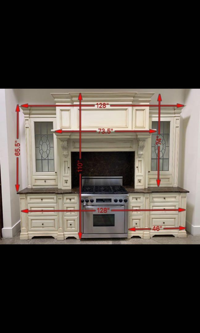 Display Cabinets, marble top & backsplash FOR SALE (never used, showroom display cabinets)