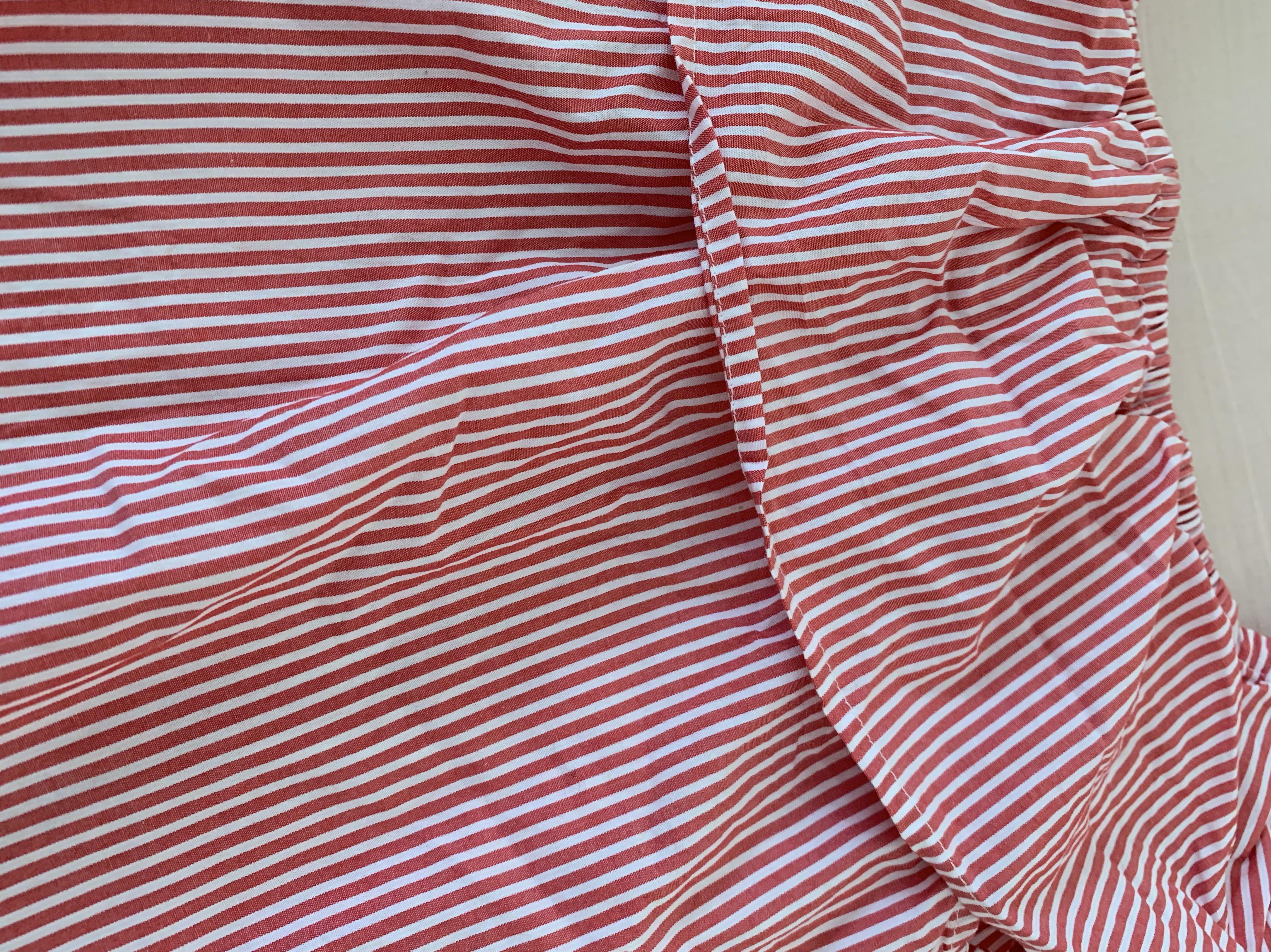 H&M紅白條紋露肩上衣✨