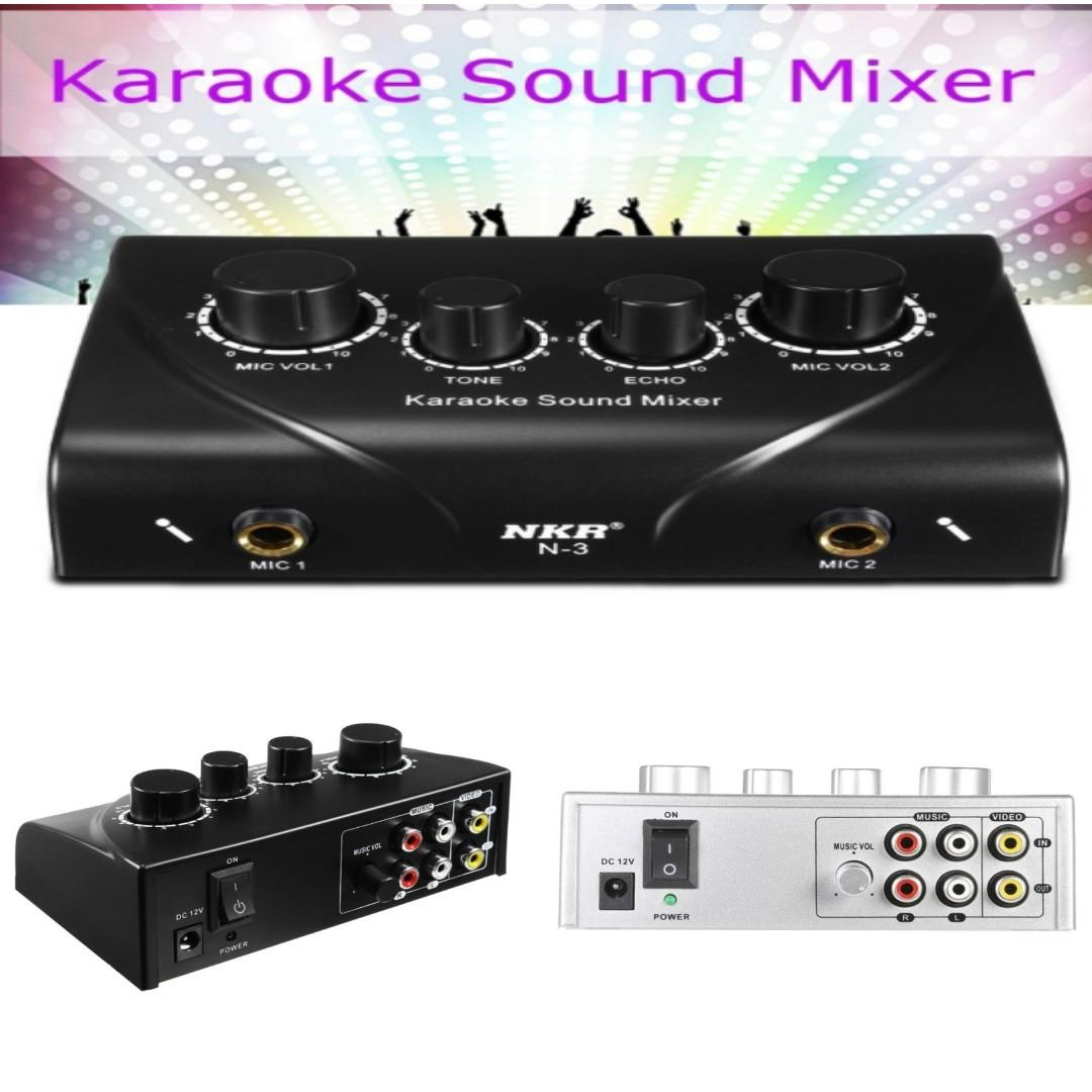 Karaoke Sound Music Mixer / 2 in 1 Bluetooth Transmitter and Receiver Adapter