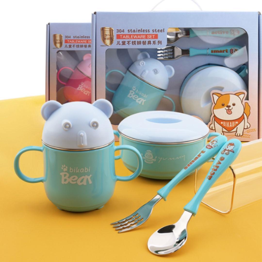 Kids dinning set / children tableware/ baby weaning set/ Gift set