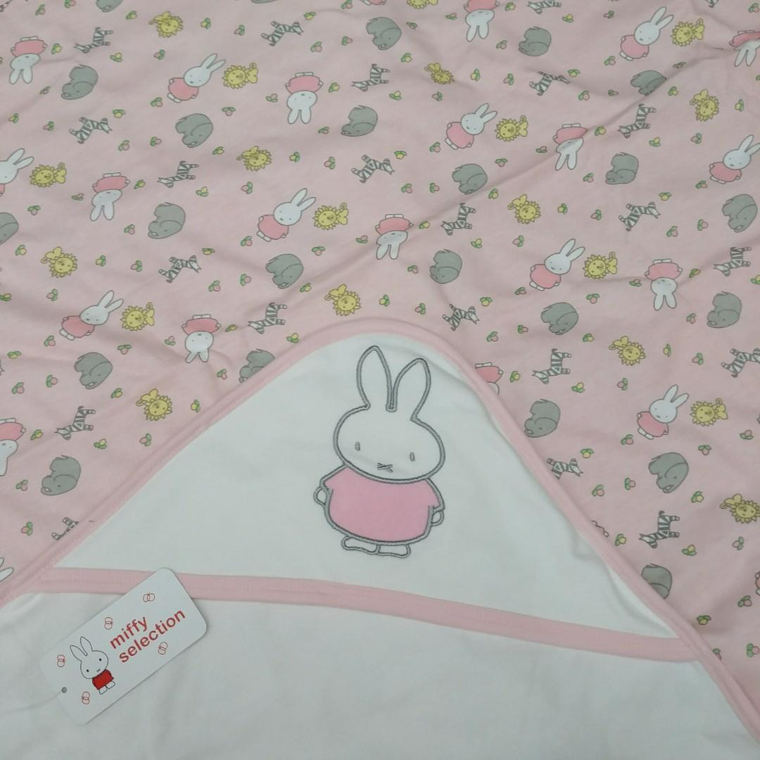 ✨Miffy兔✨ (薄款/夾棉款) 出口日本 純棉嬰兒包被 BB車推車蓋被  全新 80X78cm