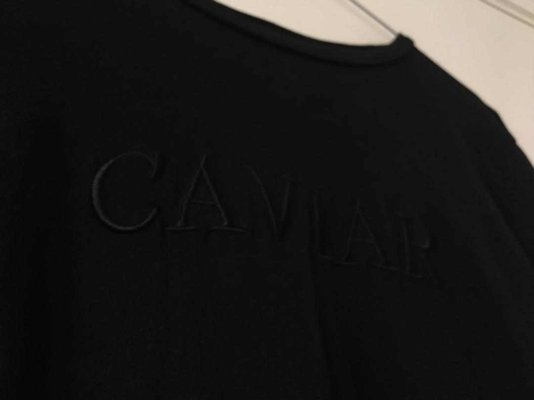NEGOTIABLE General Pants Subtitled CAVIAR Black long sleeve t shirt