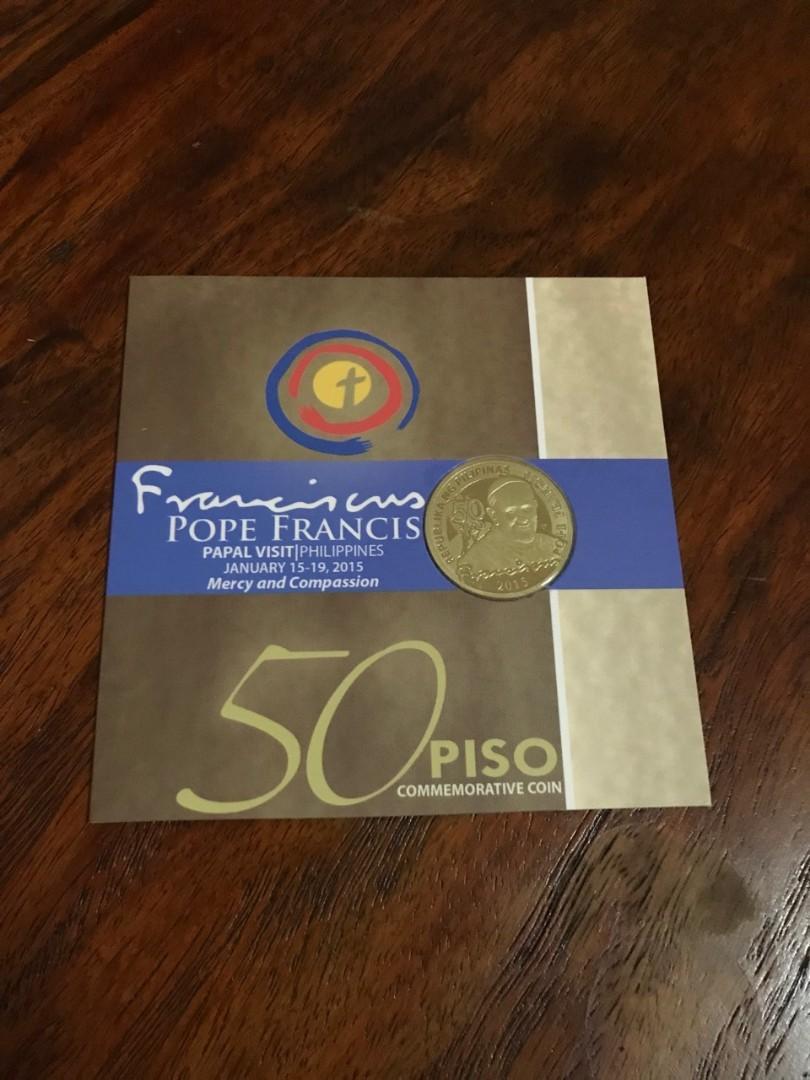 2015 Philippine Pope Francis 500-Piso Commemorative Coin sealed w// box and COA