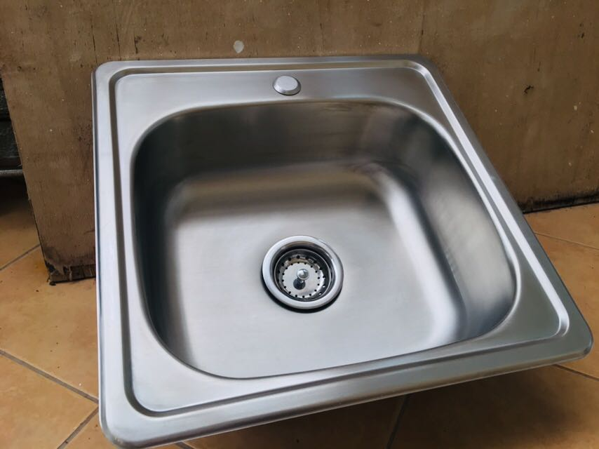 Stainless Kitchen Sink With Strainer Negotiable Home Furniture Home Appliances Other Kitchen Appliances On Carousell