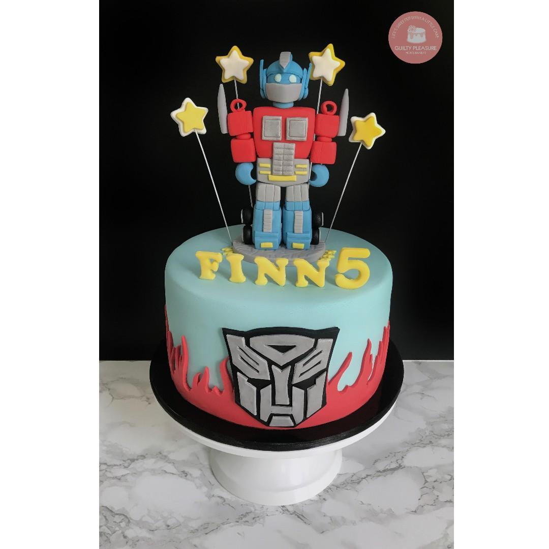 Pleasing Transformer Optimus Prime Birthday Cake Food Drinks Baked Funny Birthday Cards Online Alyptdamsfinfo