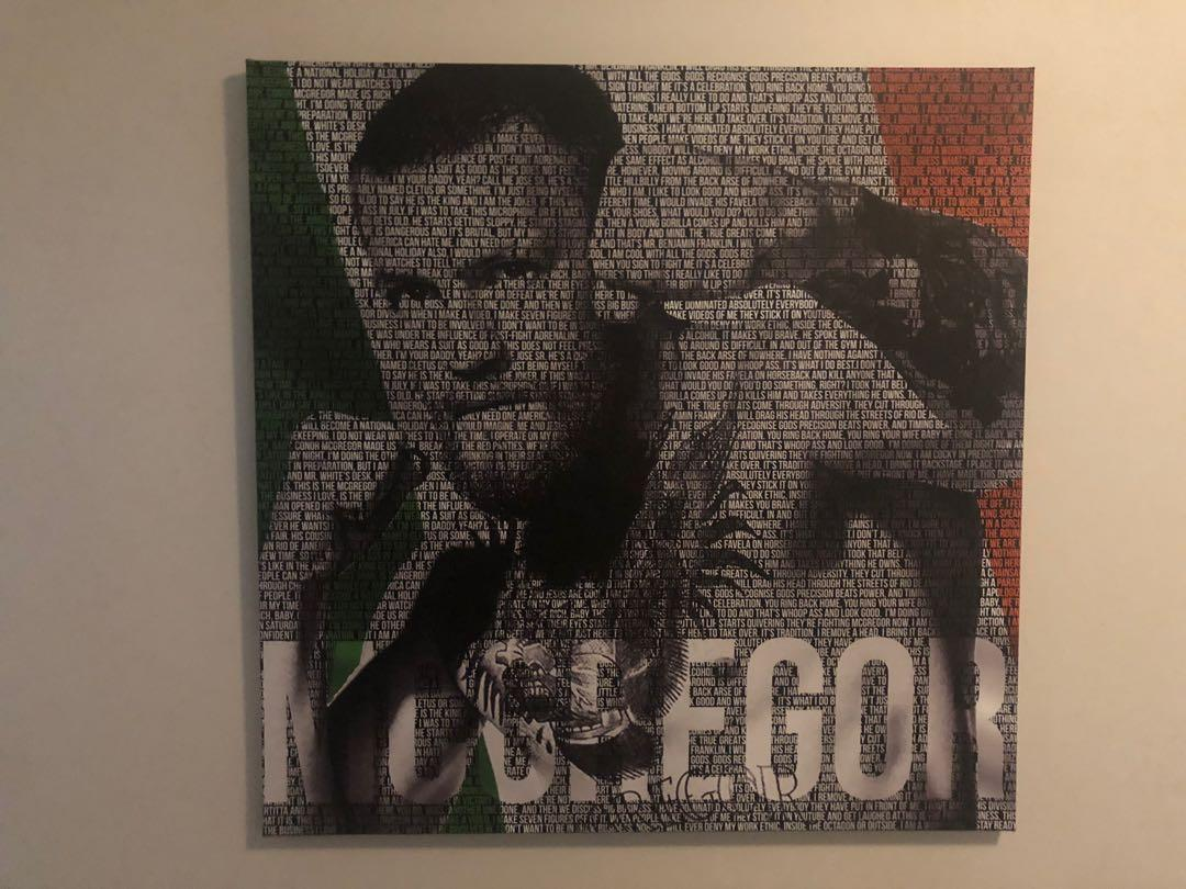 UFC CONOR MCGREGOR LIMITED EDITION 1K WORDS LARGE CANVAS PRINT