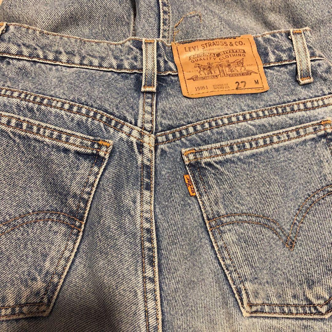 Vintage Levi's orange tab denim jeans