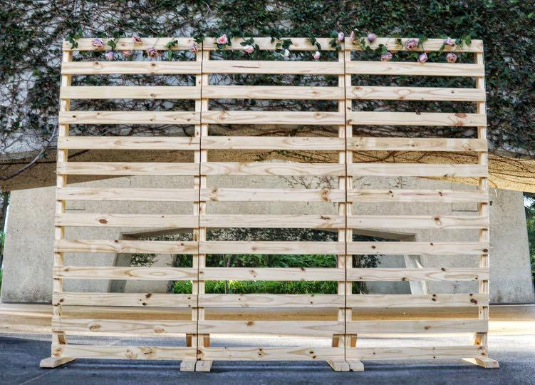 Wooden Pallet Panel Backdrop