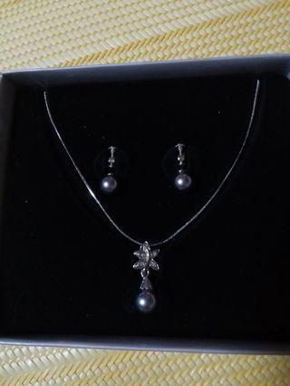 水晶珍珠(墜鍊,耳環)