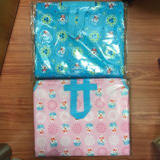 全新*限量@福利熊x印花樂保冷袋野餐墊 粉藍/粉紅各4個市價680