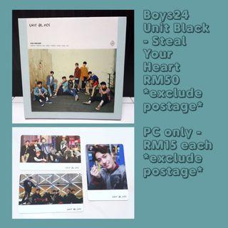 BOYS24 UNIT BLACK - Steal Your Heart album