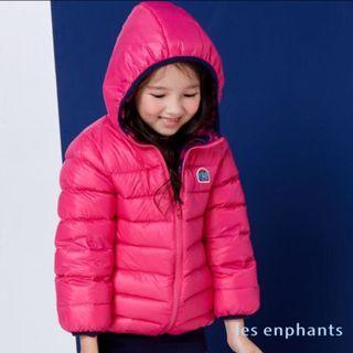 麗嬰房 les enphants 歡樂大象屋雙面穿輕量羽絨外套 兒童外套 寒流必備-桃紅