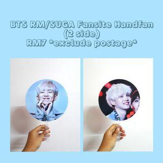 BTS RM (NAMJOON) / SUGA (YOONGI) Double side handfan