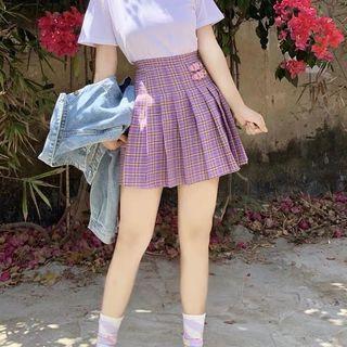 [PLUS SIZE] Simone checkered pleated skirt