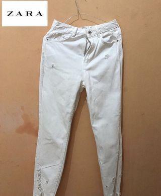 Celana Zara jeans putih