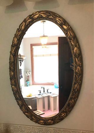 Dark Gold leaf Mirror