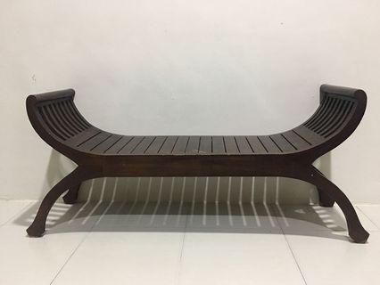 Balinese wooden bench Solid wood - Preloved!!