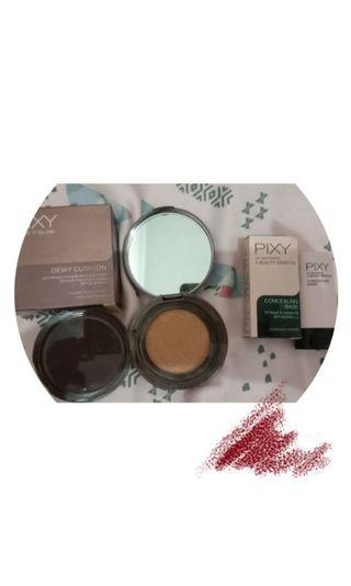 pixy make it glow dewy cushion dan PIXY UV WHITENING CONCEALING BASE