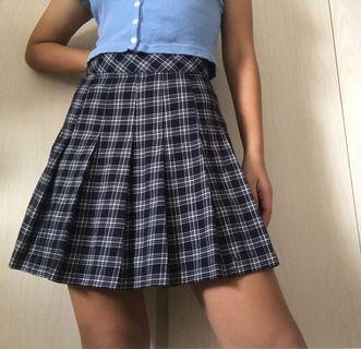 💗 h&m checkered tennis skirt