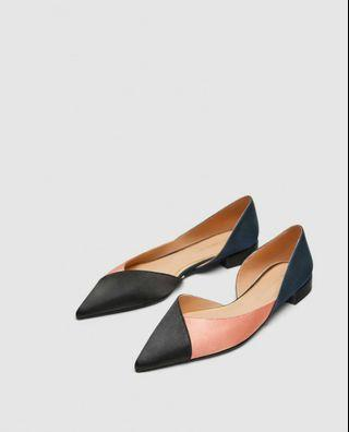 Zara three tone flats/shoes