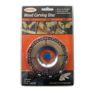 """Artpool Wood Carving Disc, 4"""" Dia, 5/8"""" Arbor"""