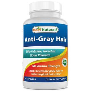 Best Naturals Anti Gray Hair Formula, 60 Count, pack of 2