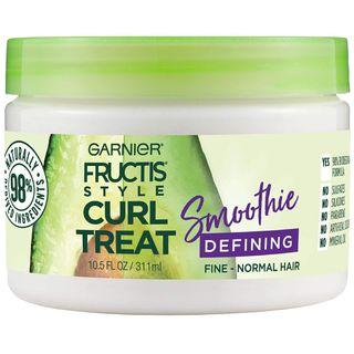 Garnier Fructis Style Curl Treat Defining Smoothie for Fine to Normal Curly Hair, 10.5 oz