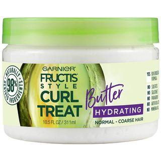 Garnier Fructis Style Curl Treat Hydrating Butter for Normal to Coarse Curly Hair, 10.5 oz