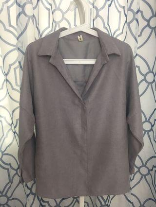 Dark Grey Blouse
