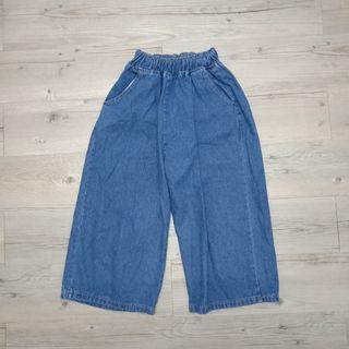 七分牛仔寬褲