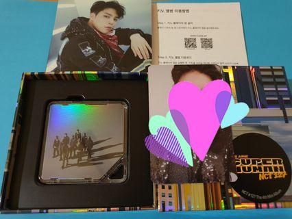 NCT 127 Superhuman Kihno album with Johnny photocard