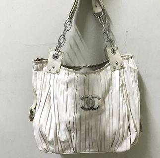 White Handbag Bag Tas Chanel channel chanell fashion wanita putih murah