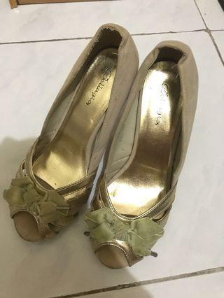 Open Toe Pumps High Heels sepatu Jinjit tinggi