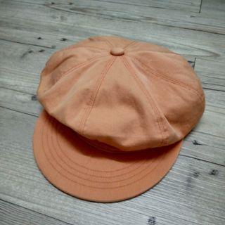 粉橘色畫家帽