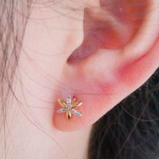 Two Tone Petals Earrings