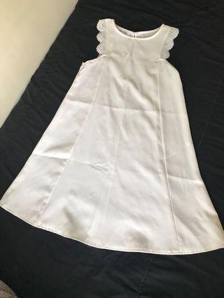Chocochips dress white