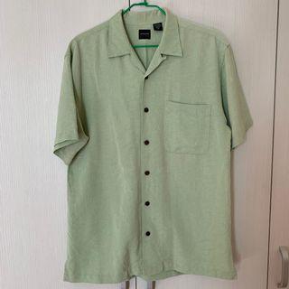 古著👕 暗紋淺淺的草綠襯衫 #出清2019 #2020年中慶