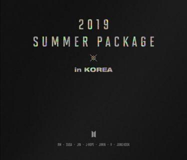 BTS Summer Package 2019 in Korea (Loose Items)