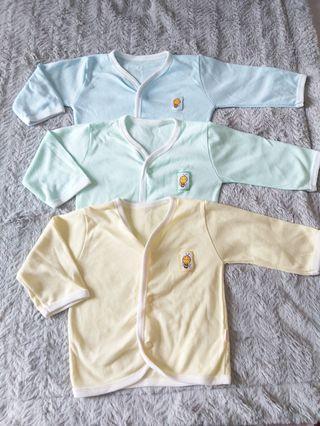 (3 pcs) Baju Newborn