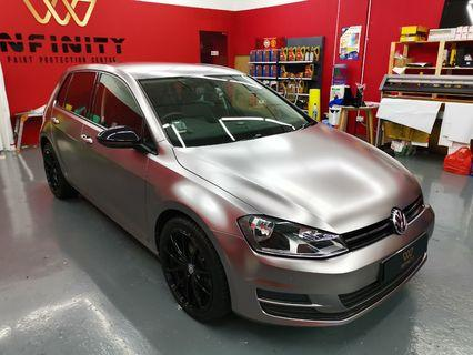 Car Wrap Satin Gunmetal Grey