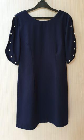 Navy Pearl Dress