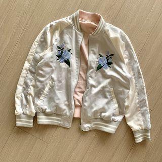 日本購入 橫須賀 刺繡/素面 雙面穿外套