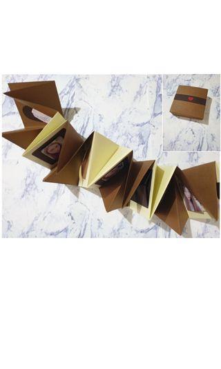 手風琴卡片含機關+禮物袋。獨家📣