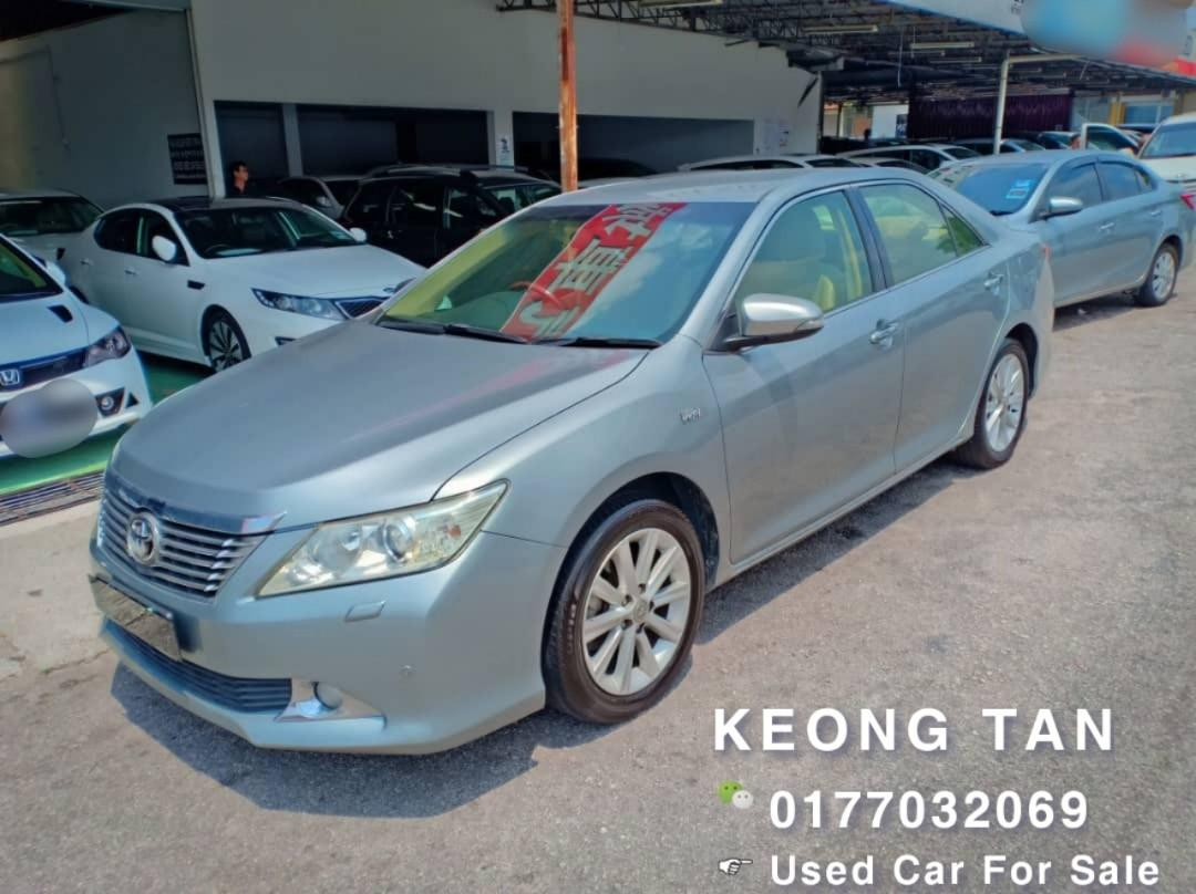 2012TH🚘TOYOTA CAMRY 2.5AT V SPEC P.Start/Leather/TipTop Condition🚘Low MILEAGE 8XXXXKM Cash💰OfferPrice💲 Rm73,800 Only‼LowestPrice InTown🎉Call📲 Keong For More🤗
